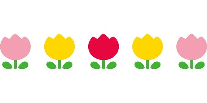 Tulip line illustration