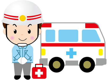 There is an ambulance person 2