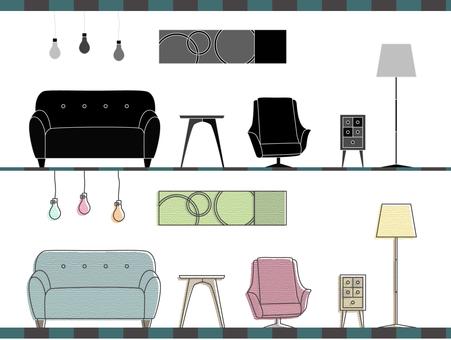 Interior - pastel × monochrome
