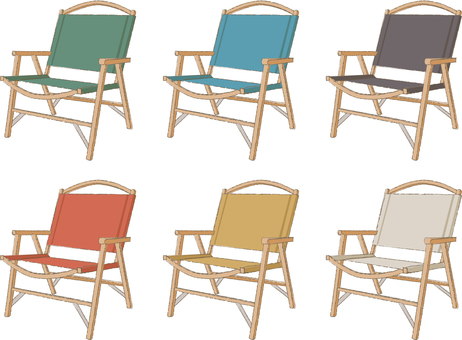 Camp chair colorful