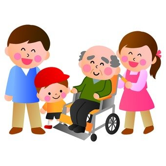 Elderly people and family
