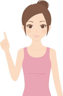 Female | Fitness | Tank Top | Fingering