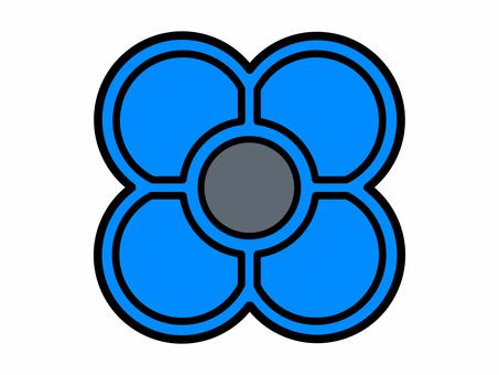 Ojahaki blue (for each color sense correspondence printing)