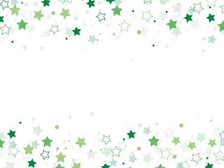 "Star pattern frame ""Green"""
