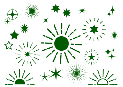 Dark green radial glitter background material