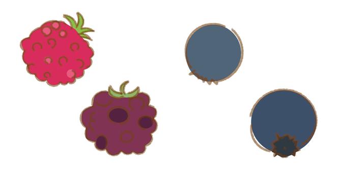 Raspberry blueberry