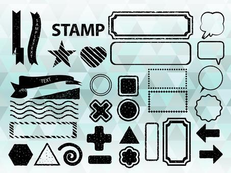 Stamp-like figure (black)