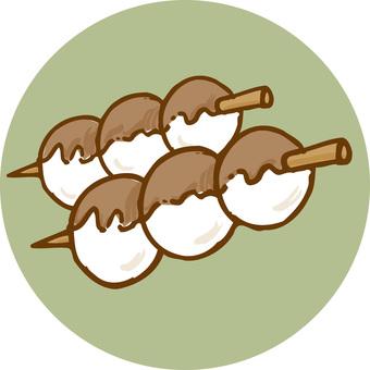 Mitarashi dumpling