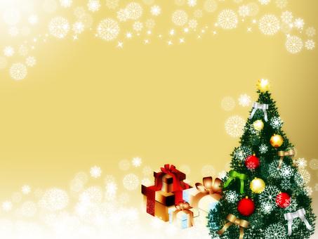 크리스마스 트리 _ 배경 _gold