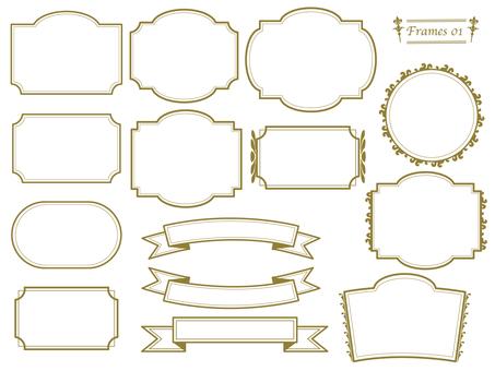 Gold frame various