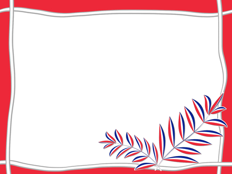Tricolor leaf (red)