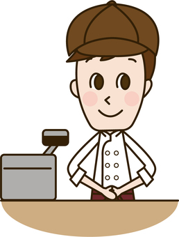 Male staff at the register (Staff 9)