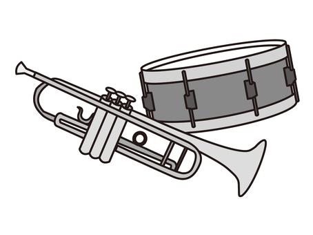 Trumpet and drum