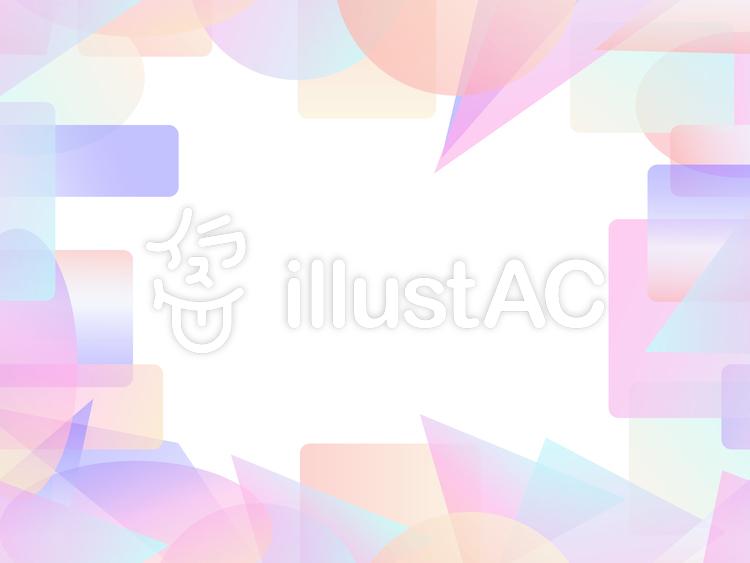 パステル調のカラフルな短形フレーム3b