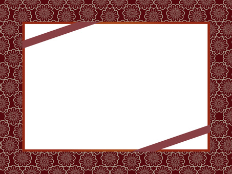 Flower pattern frame 2