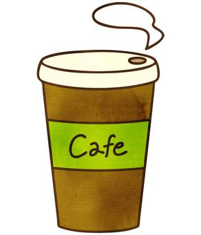 水彩風のコーヒー