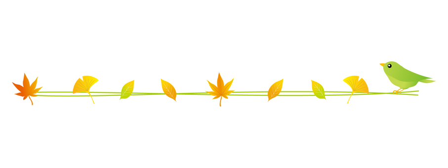 Leaves and birds line