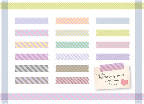 Masking tape · Stripe