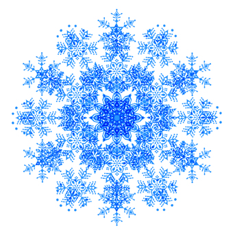 Blue snow flower material 2