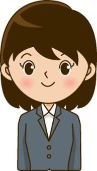정장 여자 (검은 머리)