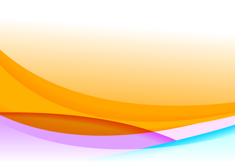 Orange colorful curvy pattern abstract background material