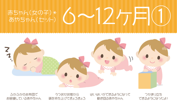 Baby (female) * 6 to 12 months ① 【Set】