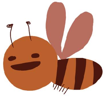 느슨한 꿀벌의 일러스트 2
