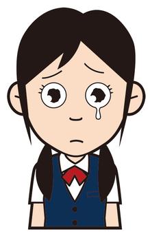Female student (crying)