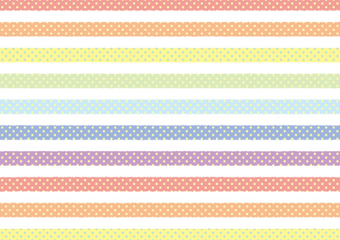 Stripe polka dots