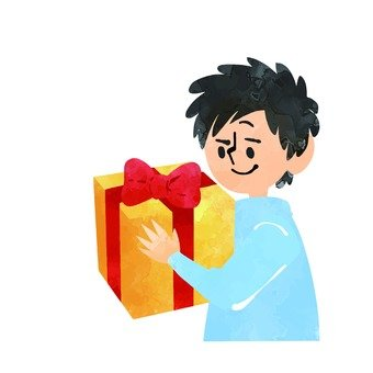 Men with gifts