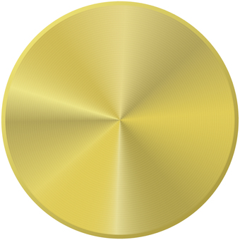 Gold metal button _ thin