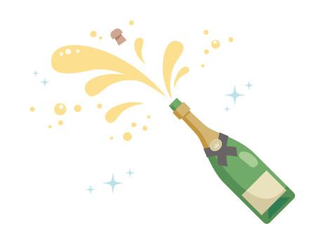 Open a champagne bottle