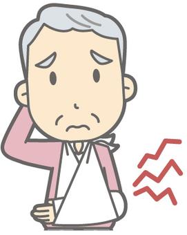 Elderly man C - fracture - bust