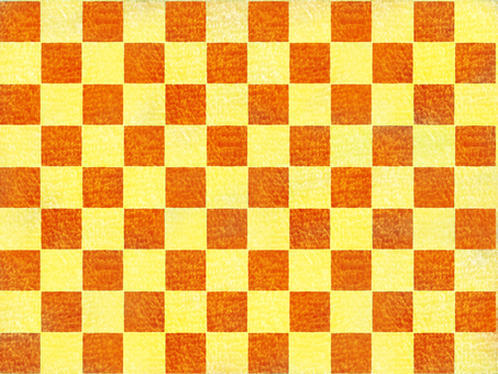 사각형 모양 융단 오렌지