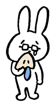 Mr. Usagi crying