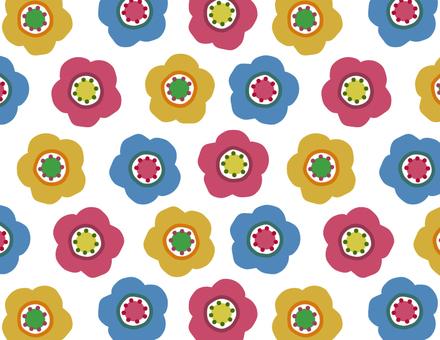 Scandinavian flowers _ pattern _ dark