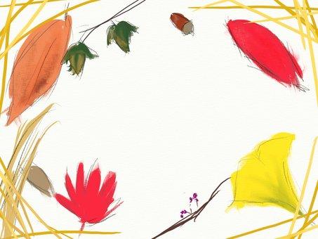 秋の瞬間のフレーム