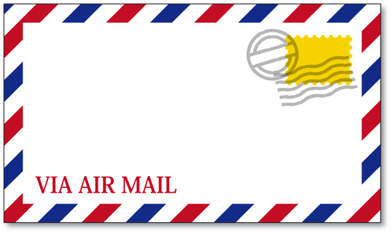 Air mail style frame