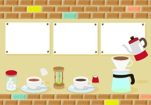 Cafe brick frame