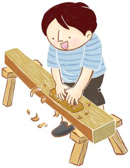 Children _ Kanna sharpening