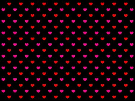 빨강과 핑크 하트 발렌타인 벽지