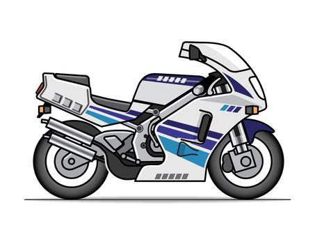 Motorcycle illustration (racer)