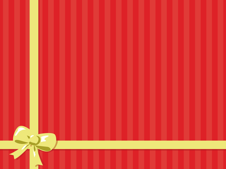빨간 줄무늬 2 리본