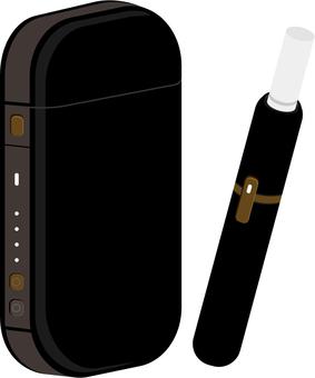Electronic cigarette with black cigarette image 1