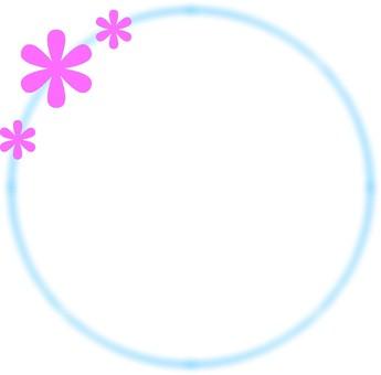 Round flower frame 2