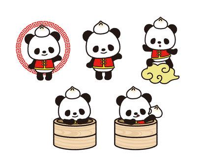 Dim Sum Panda Set