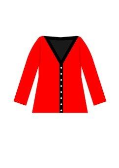 Cardigan (red)