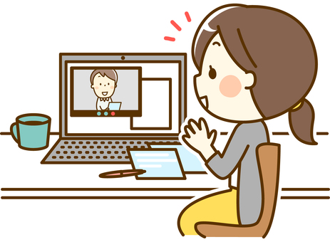 Women working at home_meeting
