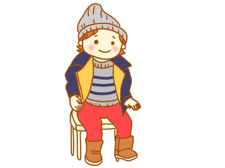 Boy who wore winter clothes