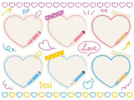 Stationary style heart decorations